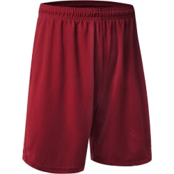 Costbuys  US Men Mesh Quick-Dry Shorts 2 Pockets workout pants Soft Basketball Gym Fitness - Red / L