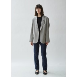 6397 Oversized Mini Houndstooth Blazer Grey Mini Houndstooth Size: X-Small found on MODAPINS from la garconne for USD $595.00