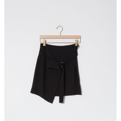 Ann Demeulemeester Wool-Viscose Belted Skirt Black Size: 38 found on MODAPINS from la garconne for USD $705.00