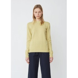Aspesi Wool Cotton Classic Crewneck Sweater Yellow Size: Large found on MODAPINS from la garconne for USD $373.00