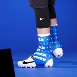 Disrupted USA Flag Blue Spats / Cleat Covers