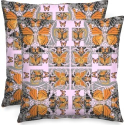 Square Pillow - Monarch  Butterfly  Art by VIDA Original Artist found on Bargain Bro Philippines from SHOPVIDA for $55.00