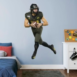 """Justin Herbert for Oregon Ducks: Oregon - Officially Licensed Removable Wall Decal Life-Size Athlete + 2 Decals (45""""W x 78""""H) by"""