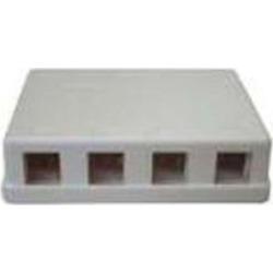 4 Port Keystone Surface Mount Box