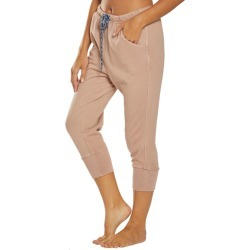 Free People Women's Counterpunch Cropped Jogger Pants - Taupe Medium Cotton