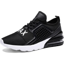 Costbuys  Running shoes training for men sneakers sports shoes Outdoor fitness jogging Increased bottom - 7059-Black / 9.5