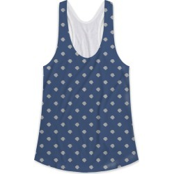 Printed Racerback Top - Fortis Lion Silver & Navy in Blue/Polka Dot/Purple by VIDA Original Artist found on Bargain Bro India from SHOPVIDA for $45.00