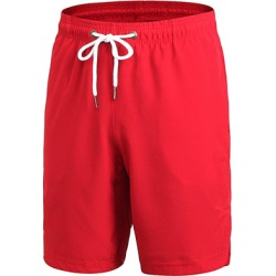 Costbuys  Men Fitness Outdoor Shorts Basketball Gym Running Mesh Sports Short Quick dry Exercise Sportwear - Red / XL