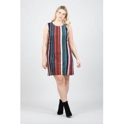Curve Stripe Sleeveless Shift Dress found on Bargain Bro UK from Izabel London UK