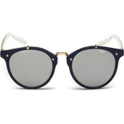 Costbuys  Retro Designer Small Round Sunglasses Men Women New Vintage Fashion Trend Mirror Sun Glasses For Male Female - blue si