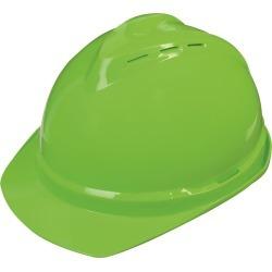 MSA V-Gard 500 Vented Hard Hat, Hi-Vis Green