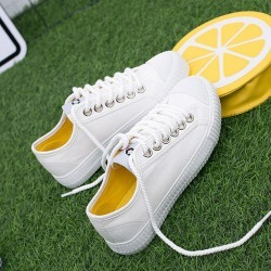 Costbuys  Canvas Shoes Women/Men Fashion Unisex Canvas Shoes Vulcanized Casual Shoes Lace-up 4 Colors Outdoor - Color 4 / 36 found on Bargain Bro India from cost buys for $122.40