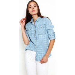 Checked Denim Button Up Shirt