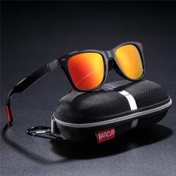 Costbuys  Polarized Sunglasses Women Square eyewear Men Sun glasses Vintage Unisex Goggle Male Oculos de sol - Orange Red