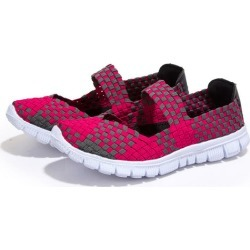Costbuys  Woman Casual shoes spring Summer Breathable Sneaker Weaving women home shoes - Rose / 9.5 found on MODAPINS from cost buys for USD $97.99