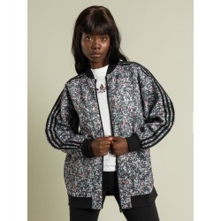Adidas - Loose-Fit Long Bomber Jacket in Mini Floral Print found on MODAPINS from glue store for USD $77.08