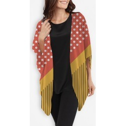 Cocoon Wrap - Red And Yellow Silk by VIDA Original Artist found on Bargain Bro India from SHOPVIDA for $110.00