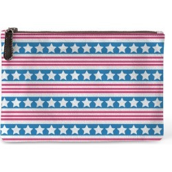 Carry-All Pouch - Usa Stars Flag in Blue/Green/Pink by VIDA Original Artist found on MODAPINS from SHOPVIDA for USD $60.00