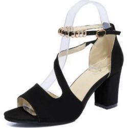 Costbuys  Summer Women Sandals Open Toe Flops Women's Thick Heel Women Shoes Korean Style Gladiator Shoes Platform - Black / 5