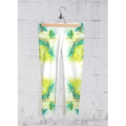 Yoga Capri Pants - The Laundress in Blue/Green/Yellow by VIDA Original Artist found on Bargain Bro Philippines from SHOPVIDA for $70.00