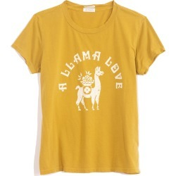 The Boxy Goodie Goodie Tee in Green Sulphur A Llama Love