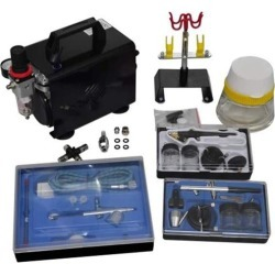 Airbrush Compressor Set With 3 Pistols 255 x 135 x 220 Mm found on Bargain Bro India from Simply Wholesale for $312.32