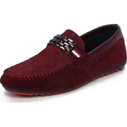 Costbuys  Men Casual Shoes Spring Autumn Light Breathable Fashion Trend Loafers For Men boat shoes - Red / 7