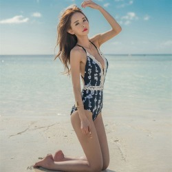 d914f088fe5 Costbuys Floral Retro One Piece Swimsuit Women Sport One-Piece Suits  Departure Beach May Swimwear