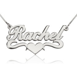 Name Necklace With Heart