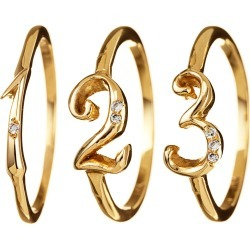 Code Number Ring Yellow Gold 18KT - 4 9 found on Bargain Bro Philippines from Lulu Frost for $550.00
