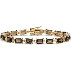 14K Gold Plated Smoky Quartz Tennis Bracelet found on Bargain Bro India from Until Gone for $128.00