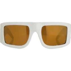 Jeremy Scott Plaque Sunglasses in White found on MODAPINS from Linda Farrow for USD $403.61