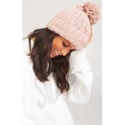 Katie Pom Pom Hat ~ Pink
