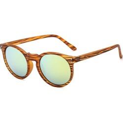 Costbuys  Round Sunglasses Retro Women Ladies Vintage Sunglasses Male Fashion for Travel Brand Designer JH9003 - Yellow Mirror