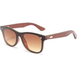 Costbuys  Bamboo Wood Frame Sunglasses Men Square Sun Glasses Mirror Coating Women Eyewear Shades Oculos de sol Gafas - 05