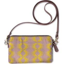 Statement Clutch - Sun Blocks Iii in Brown/Red/Yellow by VIDA Original Artist