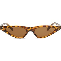 Costbuys  Small Water Frame Lady Sunglasses Men Women Oval Glasses Designer Fashion Male Female Shades - leopard tea