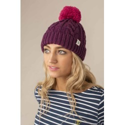 Hannah Bobble Hat - Plum