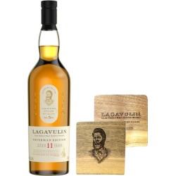 Lagavulin Offerman Edition 11 Year Old Islay Single Malt Scotch Whisky with Coasters