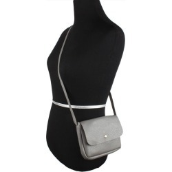 Samsung Galaxy Express 3 - Foldover Flap Crossbody Pouch with Back Pocket, Gray found on Bargain Bro India from cellularoutfitter.com dynamic for $18.99