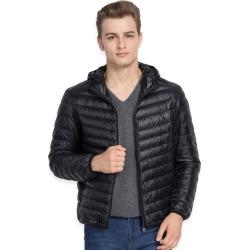 Costbuys  White Duck Down Jacket Men Autumn Winter Warm Coat Men's Ultralight Duck Down Jacket Male Windproof Parka - Black / L