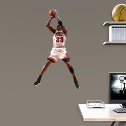 Michael Jordan for Chicago Bulls: Jumper - Officially Licensed NBA Removable Wall Decal 23.0