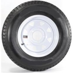 """Goodride 13"""" 6 ply Radial Trailer Tire & and Wheel - ST 175/80R13 - 5 lug (White Spoke)"""