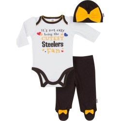 Pittsburgh Steelers Baby Girl Outfit, 3pc Set - 9M