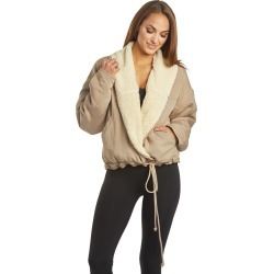 Free People Women's Movement Mix It Up Reversible Jacket - Neutral Small Spandex Top