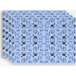 Placemat Set - Dog Pattern Blue in Blue/Purple by Violetheavensky Original Artist