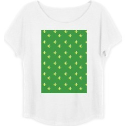 Boatneck Boyfriend Tee - Peeled Banana On Green in Green/Yellow by Violetheavensky Original Artist found on Bargain Bro Philippines from SHOPVIDA for $35.00