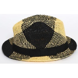 Black and Yellow Beach Straw Hat