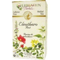 Organic Ginseng Eleuthero Root Tea 24 Bags by Celebration Herbals found on Bargain Bro India from Herbspro for $6.28