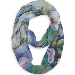 Infinity Eco Scarf - Trilliums In Blue in Blue/Green/Purple by VIDA Original Artist found on Bargain Bro Philippines from SHOPVIDA for $45.00